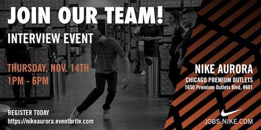 Interview Event  @ Nike Aurora