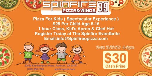 Spinfire 89 Pizza, Wings & Football Pizza Making Party