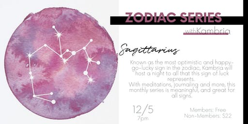 Zodiac Night with Kambria: a monthly series