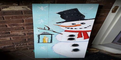Snowman Porch Sign  $50.00