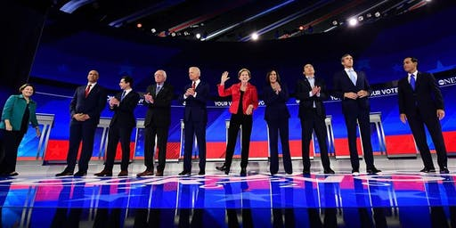 Democratic Debate Watch Party Hosted by Bay Area for Warren