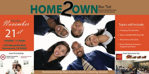 HOME2OWN Real Talk Homeownership/Real Estate Industry Listening Session