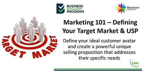 Marketing 101 - Define Your Target Market & USP tickets