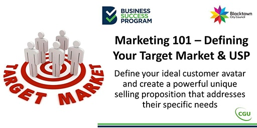 Marketing 101 - Define Your Target Market & USP