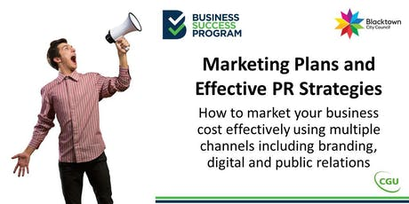 Marketing Plans and Effective PR Strategies tickets