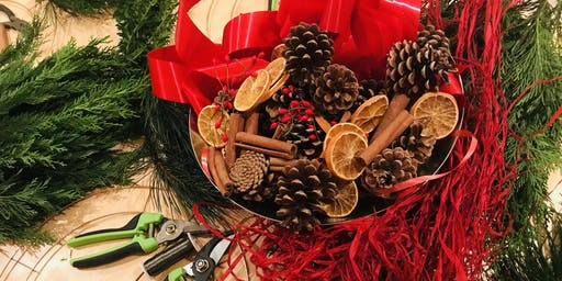 Christmas Wreath Workshop at North Norfolk Chocolate Box Coastal Cottage
