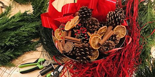 Christmas Wreath Workshop at North Norfolk Chocolate Box Coastal Cottage