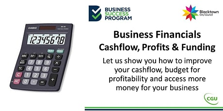Business Financials - Cash flow, Profits and Funding tickets
