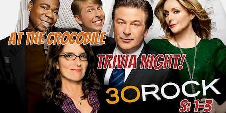 30 Rock Trivia. S:1-3 @ The Back Bar tickets