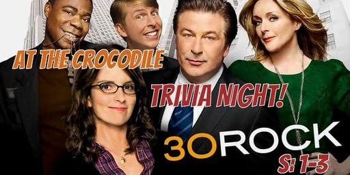 30 Rock Trivia. S:1-3 @ The Back Bar