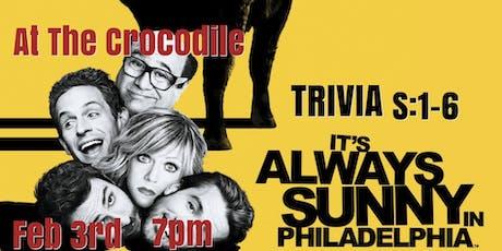 It's Always Sunny In Philidelphia S:1-6 Trivia Night! @ The Back Bar tickets