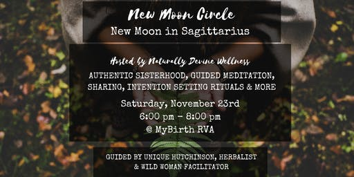 New Moon Circle RVA - November New Moon in Sagittarius
