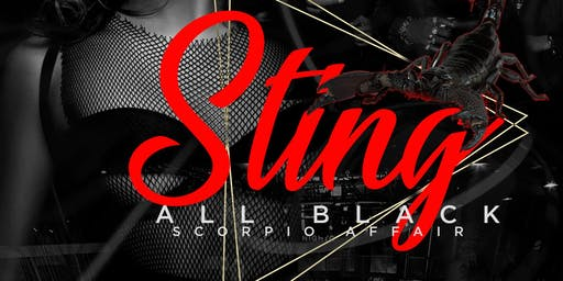 STING  ALL BLACK SCORPIO AFFAIR