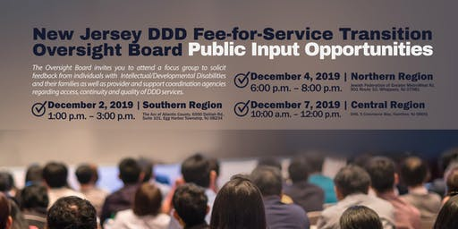 DDD Fee-for-Service Transition Oversight Board Public Input Opportunities