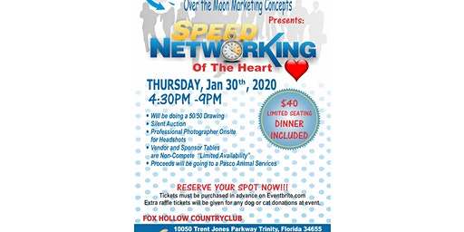 """Speed Networking of The Heart "" Sponsoring Pasco Animal Services  Shelter"