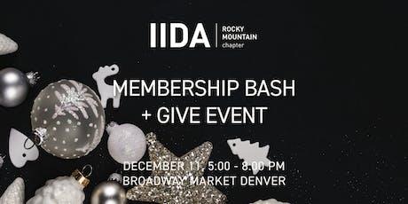 IIDA RMC Denver | Membership Bash + Give Back tickets