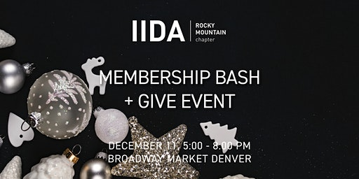 IIDA RMC Denver | Membership Bash + Give Back