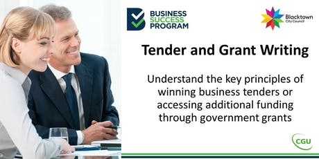 Tender and Grant Writing tickets