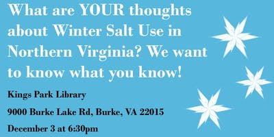 What are YOUR thoughts about Winter Salt Use in Northern Virginia? We want to know what you know!