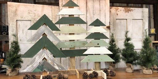 Paint Your Own Barn Board Christmas Tree