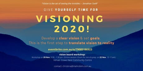 Workshop - VISIONING 2020 as the leader of your own life tickets
