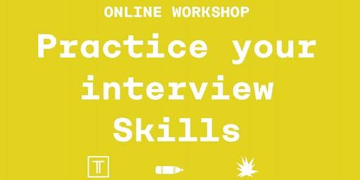 ONLINE workshop - Interview skills