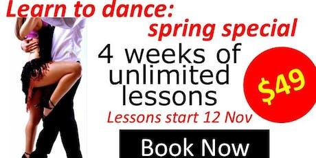 Learn to dance in 4weeks tickets