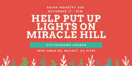 AIB2B Volunteers for Lights On Miracle Hill