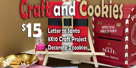 Craft and Cookies Santa suit tickets