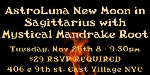 AstroLuna New Moon in Sagittarius with Mystical Mandrake Root