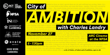 City of Ambition with Charles Landry tickets