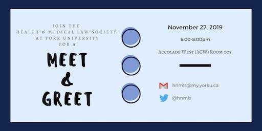 Health & Medical Law Society Fall Meet & Greet