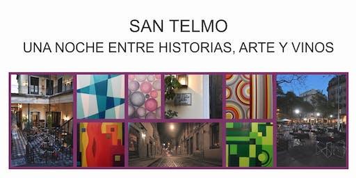 Visita guiada nocturna en San Telmo, entre historias, arte y vinos