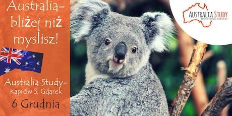 Australia: bliżej niż myślisz! Konsultacje indywidualne Gdańsk tickets