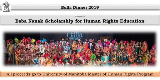 Bulla Dinner for Baba Nanak Scholarship for Human Rights Education
