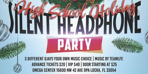 High School Holiday Silent Headphone Party