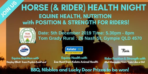 Horse & Rider // Health & Nutrition Night