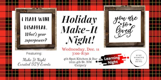 Holiday Make-It Night: Calgary