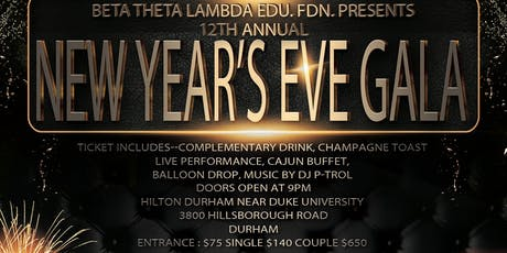 New Year's Eve  Gala hosted by the Beta Theta Lambda Foundation tickets