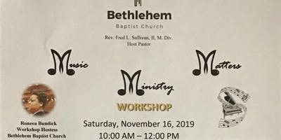 Music Ministry Matters Workshop