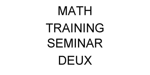 Civil Service Math Training Seminar Deux