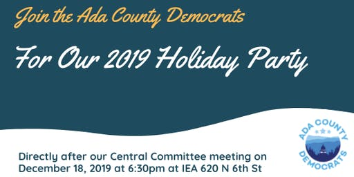 2019  Ada Dems Holiday Party