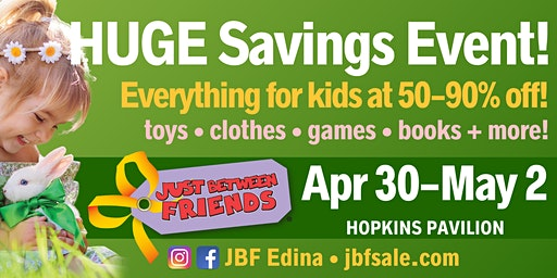 FREE Admission to JBF Edina Spring 2020