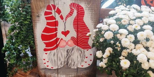 Valentine Gnome Paint Night #3