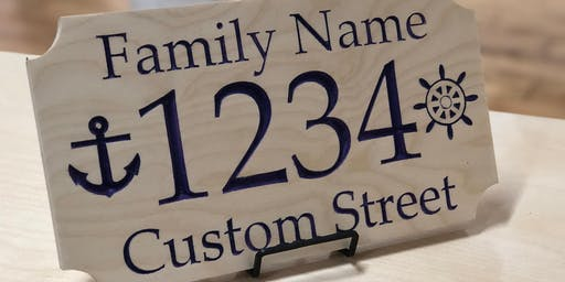 Intro to Easy CNC Signmaking - Make your own address or decor sign!