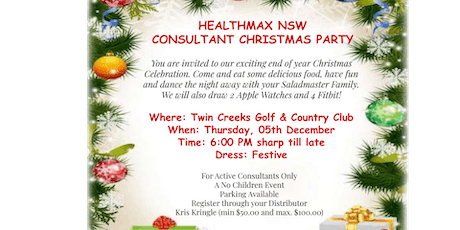 Healthmax NSW Christmas Party tickets
