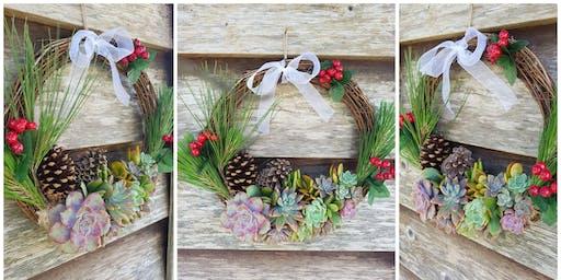 Succulent Christmas Wreath