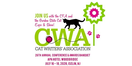 2020 Cat Writers Association Conference - Event Postponed - New dates and location to be determined. tickets