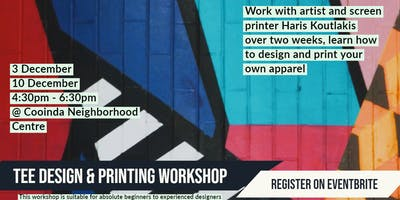 Cooinda Tee Design & Print Workshop