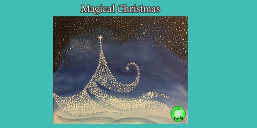 PAINTIN' PARTY with KAT: Magical Christmas (ACRYLIC PAINTING on CANVAS)